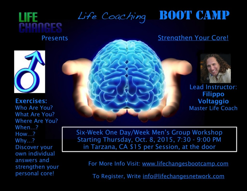 Life Coaching Boot Camp Men's Group Flyer
