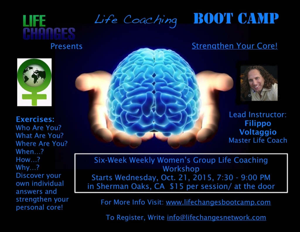 Life Coaching Boot Camp Women's Group Workshop Flyer