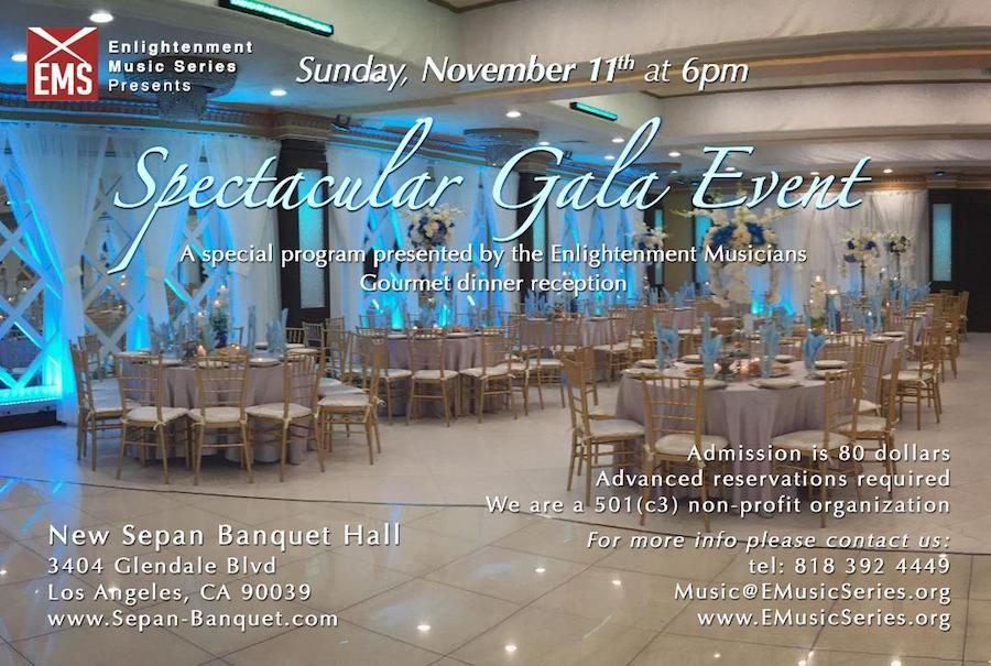The LIFE CHANGES Show Proudly Co-Hosts the Enlightenment Music Series Annual Spectacular Gala Event, Sunday, Nov. 11th, 2018
