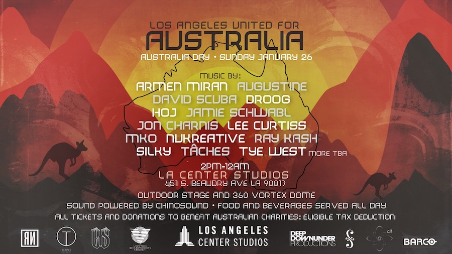 Los Angeles United For Australia - Australia Day, Sunday, January 26, 2020